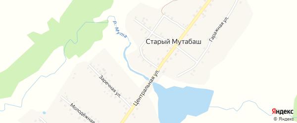 Набережная улица на карте села Старого Мутабаша с номерами домов