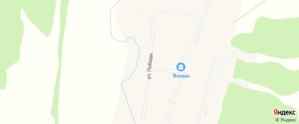 Улица Победы на карте деревни Новые Казанчи с номерами домов