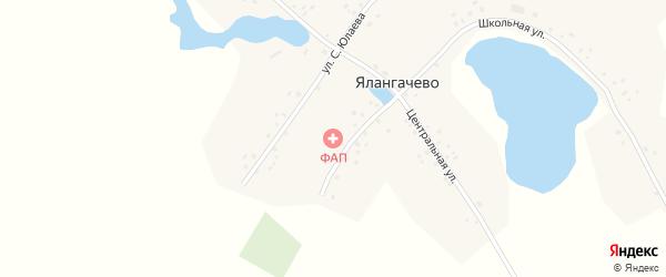 Центральная улица на карте деревни Ялангачево с номерами домов