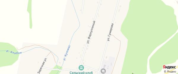 Улица Фархуллиной на карте деревни Новые Казанчи с номерами домов