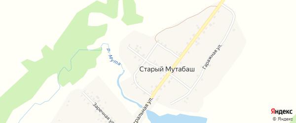 Ключевая улица на карте села Старого Мутабаша с номерами домов