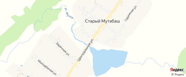 Центральная улица на карте села Старого Мутабаша с номерами домов