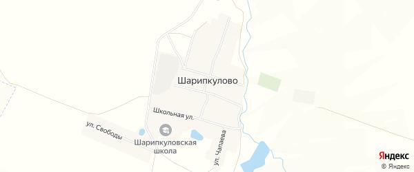 Карта деревни Шарипкулово в Башкортостане с улицами и номерами домов