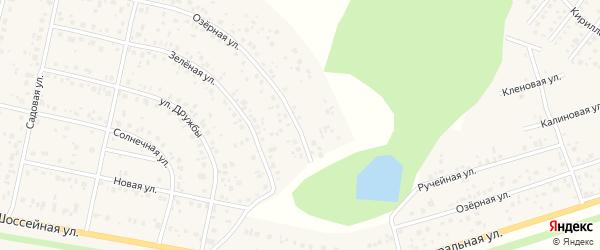 Озерная улица на карте деревни Дорогино с номерами домов