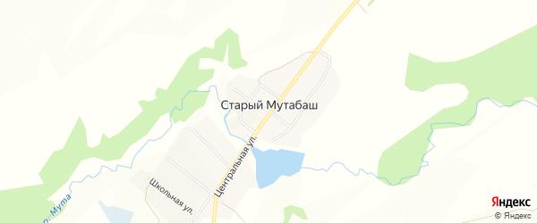 Карта села Старого Мутабаша в Башкортостане с улицами и номерами домов
