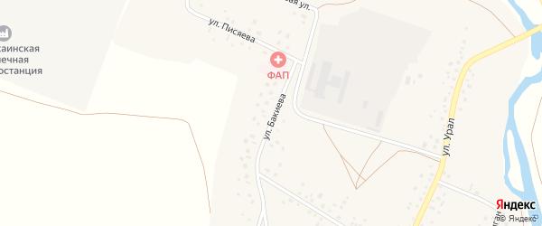 Улица Бакиева на карте села Янгискаина с номерами домов