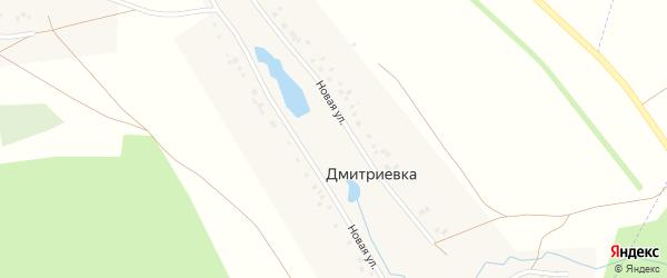Мостовая улица на карте деревни Дмитриевки с номерами домов