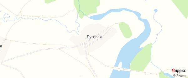 Карта Луговой деревни в Башкортостане с улицами и номерами домов