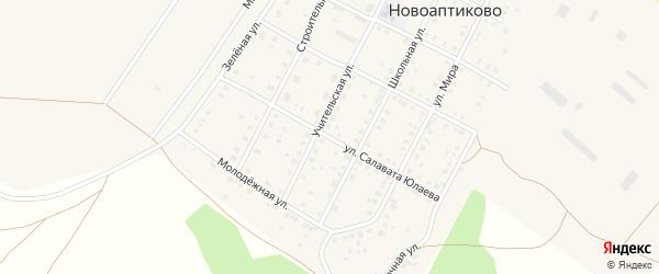 Улица С.Юлаева на карте села Новоаптиково с номерами домов