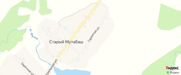 Гаражная улица на карте села Старого Мутабаша с номерами домов