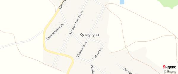 Центральная улица на карте деревни Кутлугуза с номерами домов