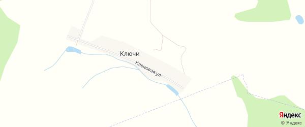 Карта деревни Ключи в Башкортостане с улицами и номерами домов