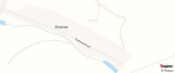 Кленовая улица на карте деревни Ключи с номерами домов