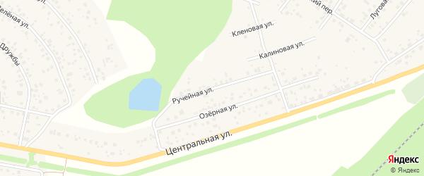 Ручейная улица на карте деревни Кириллово с номерами домов