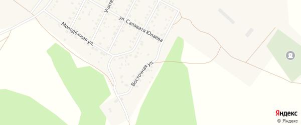 Восточная улица на карте села Новоаптиково с номерами домов