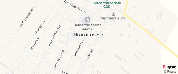Улица З.Валиди на карте села Новоаптиково с номерами домов