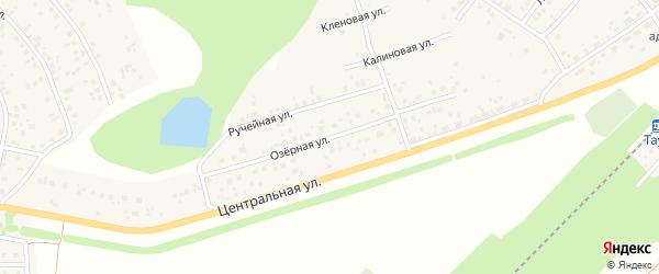 Озерная улица на карте деревни Кириллово с номерами домов