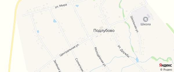 Улица Мира на карте деревни Подлубово с номерами домов