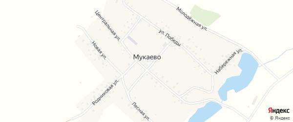 Школьная улица на карте деревни Мукаево с номерами домов
