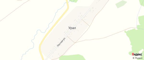 Лесная улица на карте деревни Урала с номерами домов
