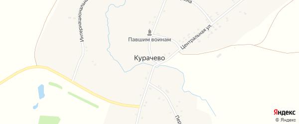 Улица Гагарина на карте деревни Курачево с номерами домов