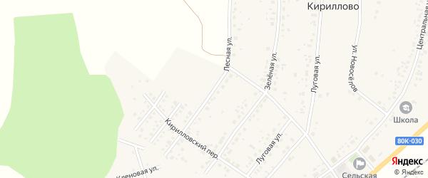 Лесная улица на карте деревни Кириллово с номерами домов