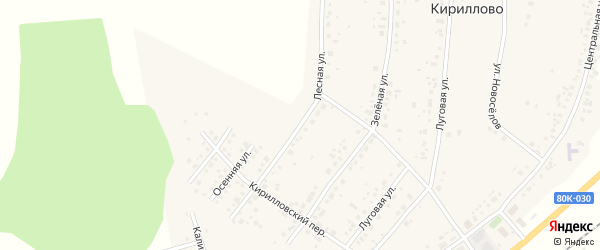 Лесная улица на карте деревни Дорогино с номерами домов