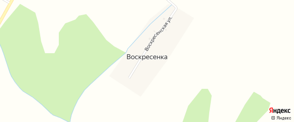 Воскресенская улица на карте деревни Воскресенки с номерами домов