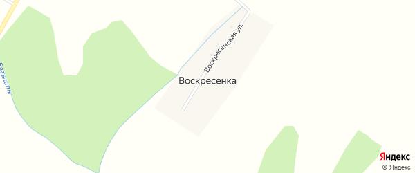 Карабикская улица на карте деревни Воскресенки с номерами домов