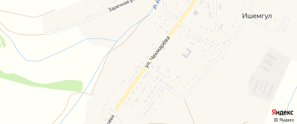 Улица Чекмарева на карте села Ишемгула с номерами домов