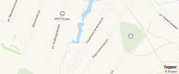 Социалистическая улица на карте села Янгискаина с номерами домов