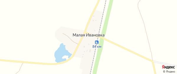 Железнодорожная улица на карте деревни Малой Ивановки с номерами домов
