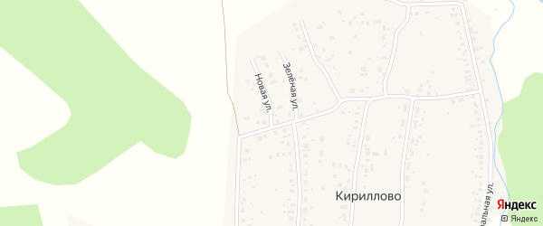 Новая улица на карте деревни Кириллово с номерами домов