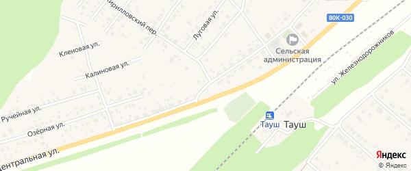 Центральная улица на карте деревни Кириллово с номерами домов