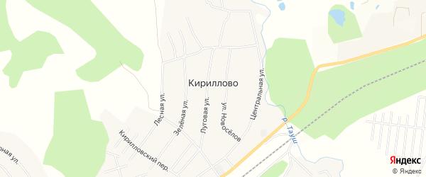 Карта деревни Кириллово в Башкортостане с улицами и номерами домов