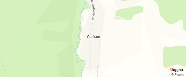 Карта деревни Усабаша в Башкортостане с улицами и номерами домов