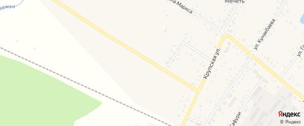Крупская улица на карте деревни Улукулево с номерами домов