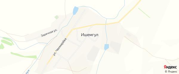 Карта села Ишемгула в Башкортостане с улицами и номерами домов