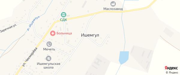 Речной переулок на карте села Ишемгула с номерами домов