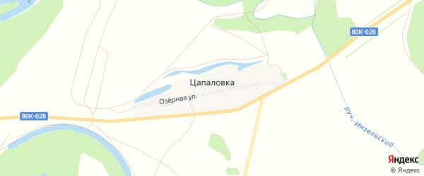 Карта деревни Цапаловки в Башкортостане с улицами и номерами домов