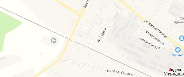 Улица Гафури на карте деревни Улукулево с номерами домов