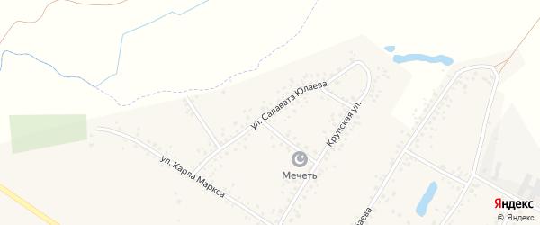 Улица С.Юлаева на карте деревни Улукулево с номерами домов