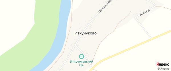 Центральная улица на карте деревни Иткучуково с номерами домов