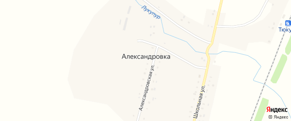 Майская улица на карте села Александровки с номерами домов