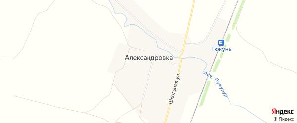 Карта села Александровки в Башкортостане с улицами и номерами домов