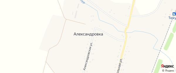 Вокзальная улица на карте села Александровки с номерами домов