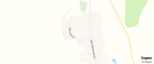 Лесная улица на карте деревни Нагретдиново с номерами домов