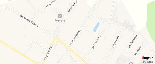 Улица Кунакбаева на карте деревни Улукулево с номерами домов