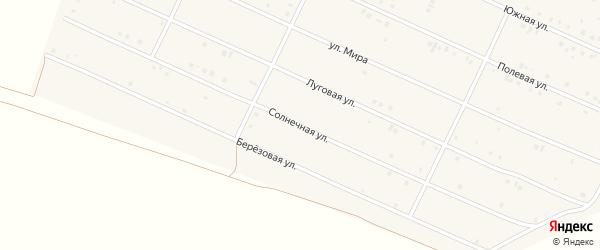 Солнечная улица на карте деревни Улукулево с номерами домов