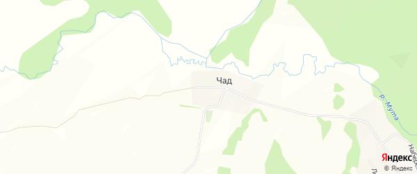 Карта деревни Чада в Башкортостане с улицами и номерами домов